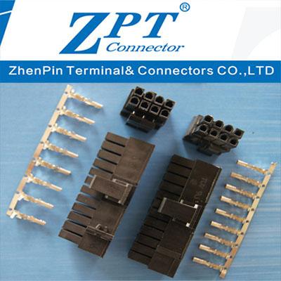 5557系列MX4.2公胶壳Housing组合式20+4P壳 、4+4P壳、MX4.2母低高脚端子Terminal
