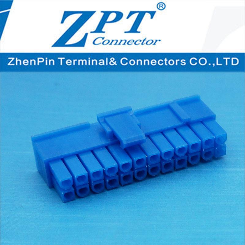 MX4.2连接器20+4P滑轨式胶壳蓝色